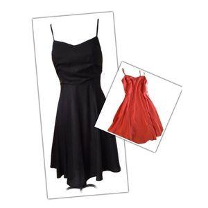 Coral Fit-n-Flare Spaghetti Strap Sun Dress